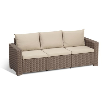 All California Sofa 3-Zit Cappuccino