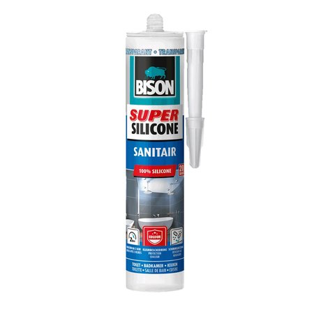 Bison Super Silicone Sanitair Transparant 300ml