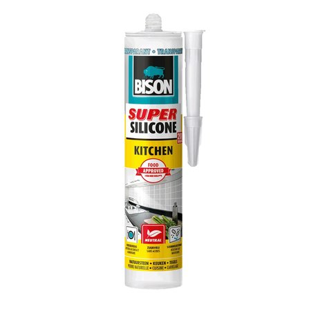 Bison Super Silicone Kitchen Transparant 300ml