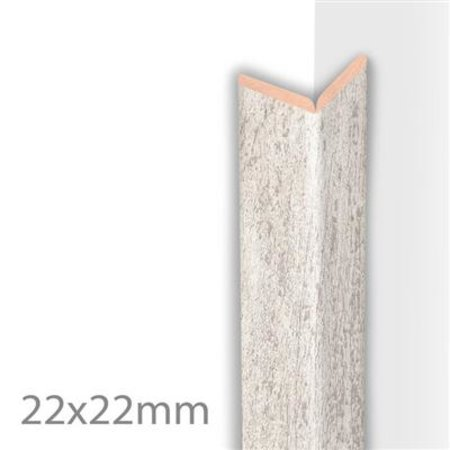 HDM Kniklijst 22x22mm White Wash