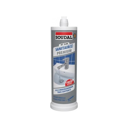 SOUDAL Sanitair Premium Silicone Mini Wit 145ml
