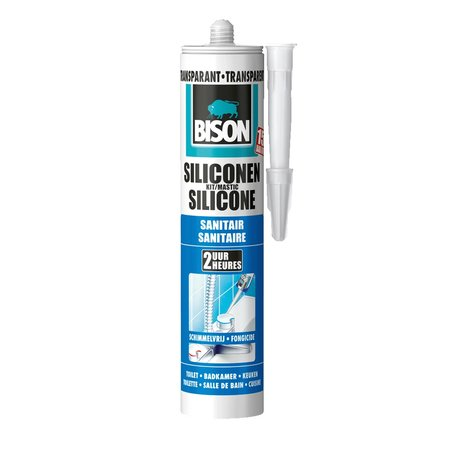 Bison Siliconenkit Sanitair Transparant 300ml