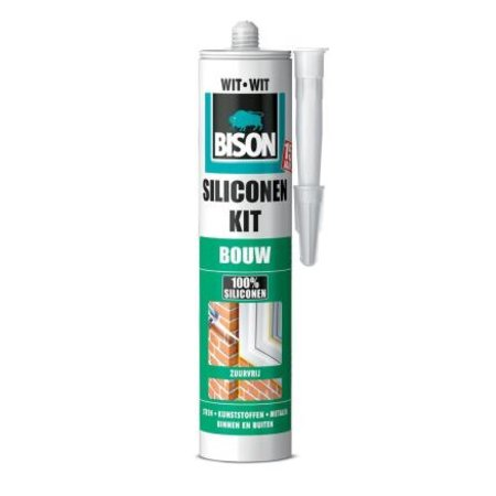 Bison Siliconenkit Bouw Wit 300ml