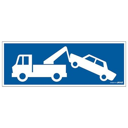 Pickup Pictogram Wegsleepzone 330x120mm