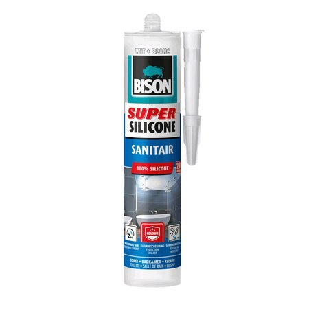 Bison Super Silicone Sanitair Wit 300ml